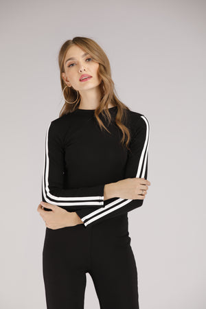 Mantra Pakistan Sweatshirt with Stripe | TOPS