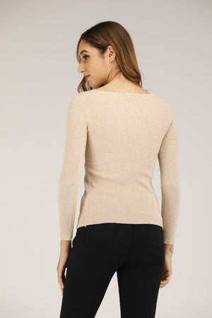 Mantra Pakistan Ribbed front twist top | OUTERWEAR