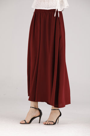 Mantra Pakistan Red Palazzo Pants | BOTTOMS