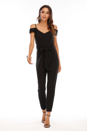 Mantra Pakistan Off shoulder jumpsuit with belt | Western Wear