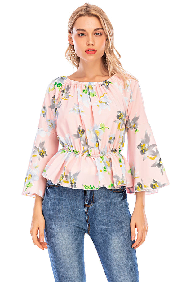 Mantra Pakistan pink floral top | Western Wear