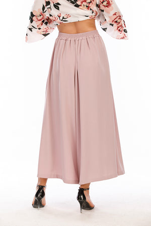 Mantra Pakistan Pink Flowy Pants |