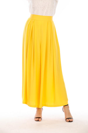 Mantra Pakistan Yellow Flowy Pants |