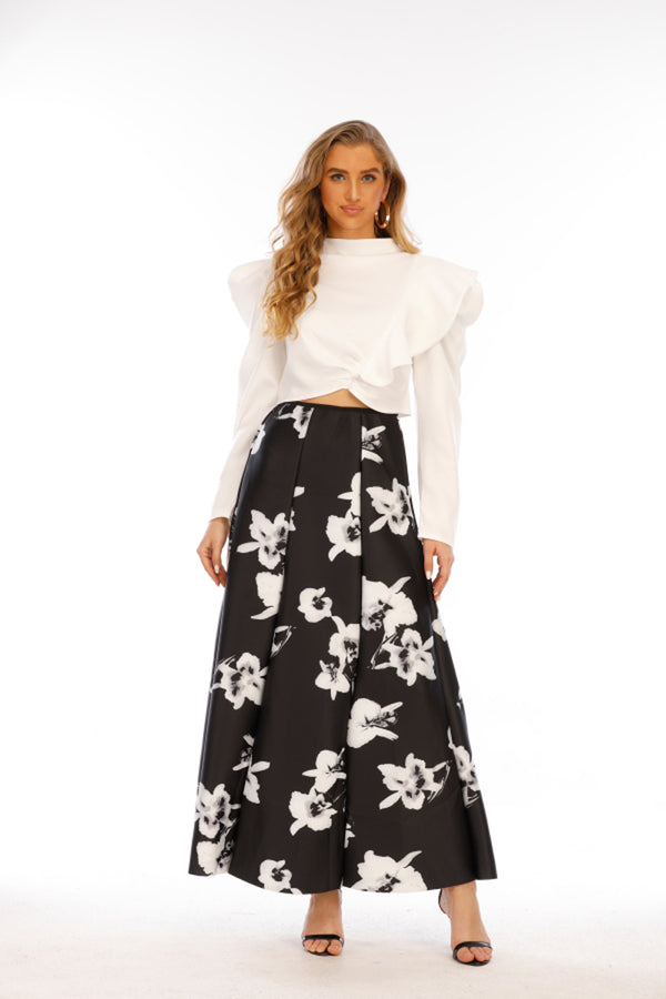 Mantra Pakistan Black & White Skirt |