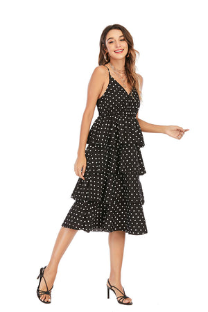 Mantra Pakistan POLKA DOTS RUFFLED DRESS |