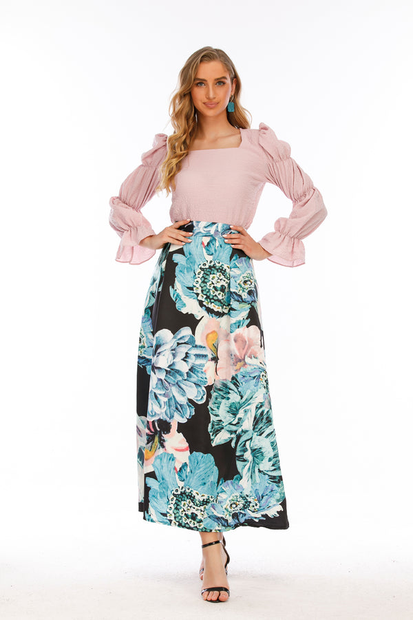 Mantra Pakistan Floral Long Skirt |