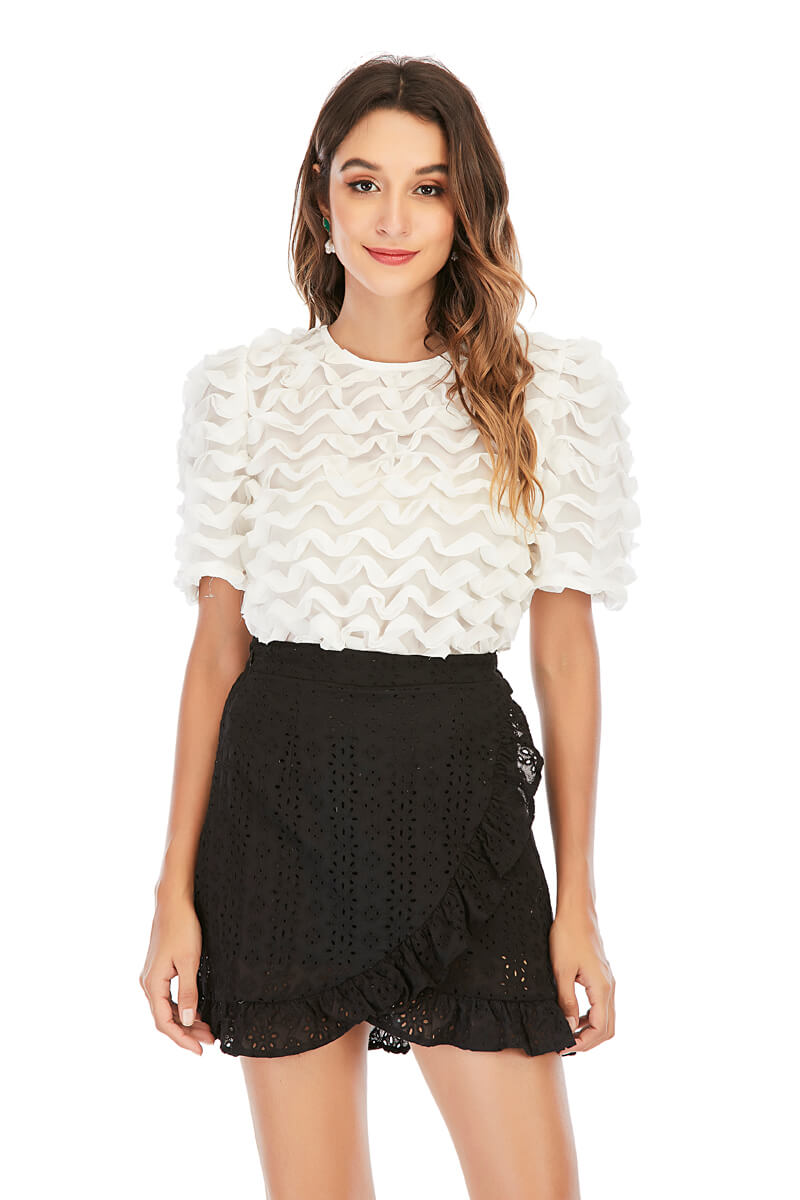 Mantra Pakistan LACE MINI SKIRT |
