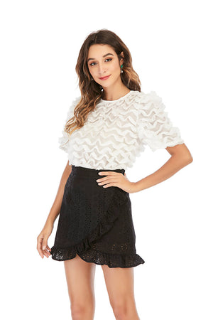 Mantra Pakistan TEXTURED WHITE TOP |