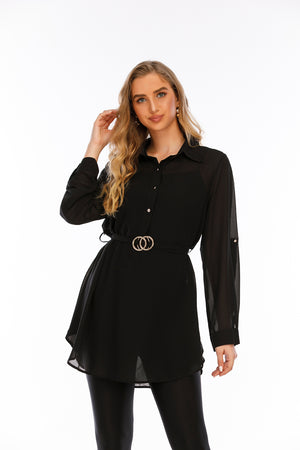 Mantra Pakistan Shirt with Buckle Belt |