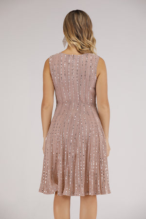Mantra Pakistan Sleeveless Sequin Dress | DRESS
