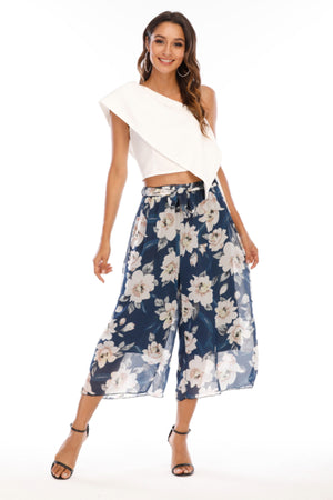 Blue flowy pants