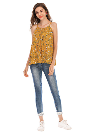 Mantra Pakistan Floral halter neck top | Western Wear