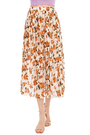 Mantra Pakistan Peach Floral Skirt | Western Wear