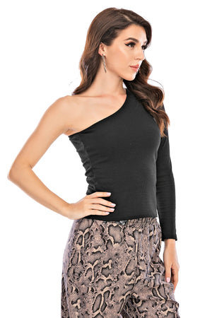Mantra Pakistan One Shoulder Top | Western Wear