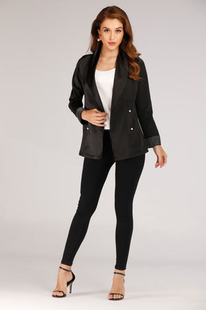 BLAZER WITH PEARL SLEEVES - Mantra Pakistan