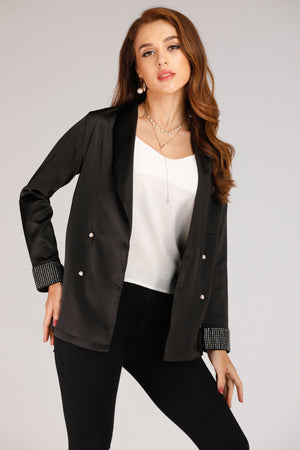BLAZER WITH PEARL SLEEVES