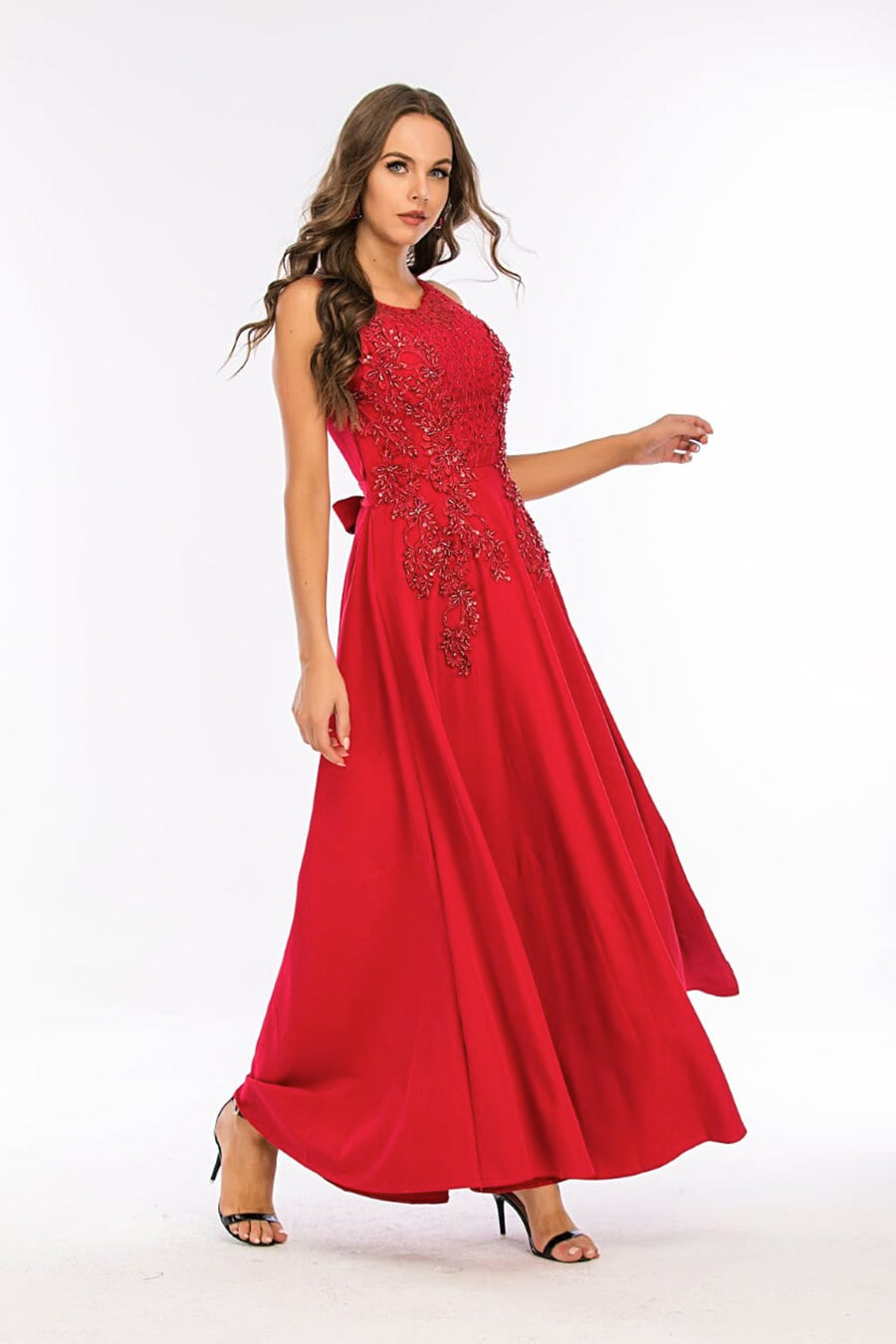 Mantra Pakistan Red Long Dress with sequins | Western Wear