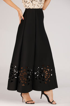 Mantra Pakistan CUT OUT LONG SKIRT | BOTTOMS