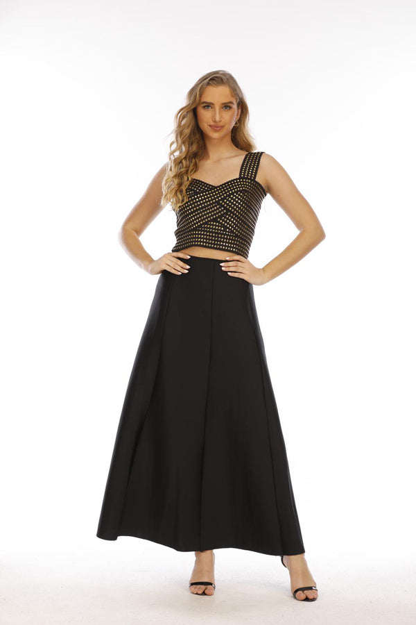 Mantra Pakistan Black Scuba Skirt |