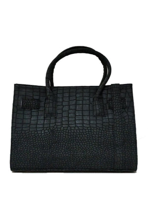 Mantra Pakistan BLACK CROC PATTERNED BAG | ACCESSORIES