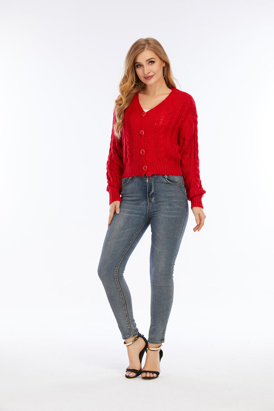Mantra Pakistan Red Sweater With Buttons | Western Wear