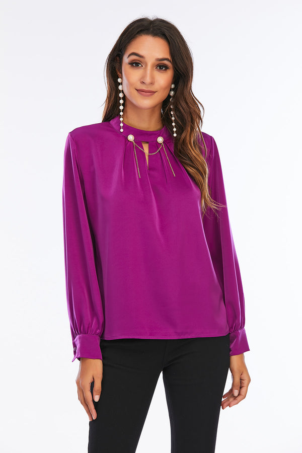 Mantra Pakistan Purple Silk Shirt | Western Wear