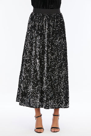 Mantra Pakistan Long Sequin Skirt | Western Wear