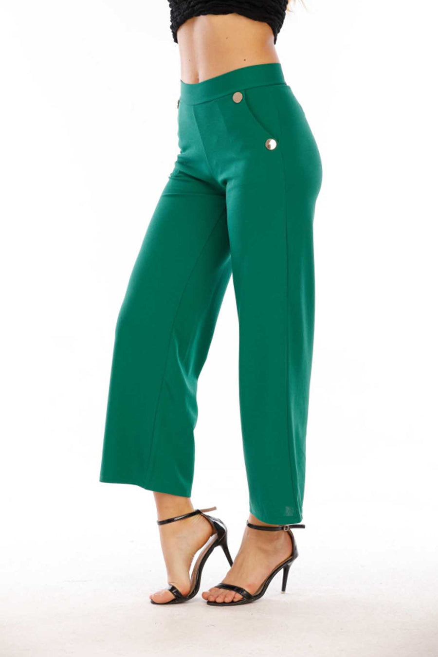 Mantra Pakistan Pants with 4 Gold Buttons | Western Wear