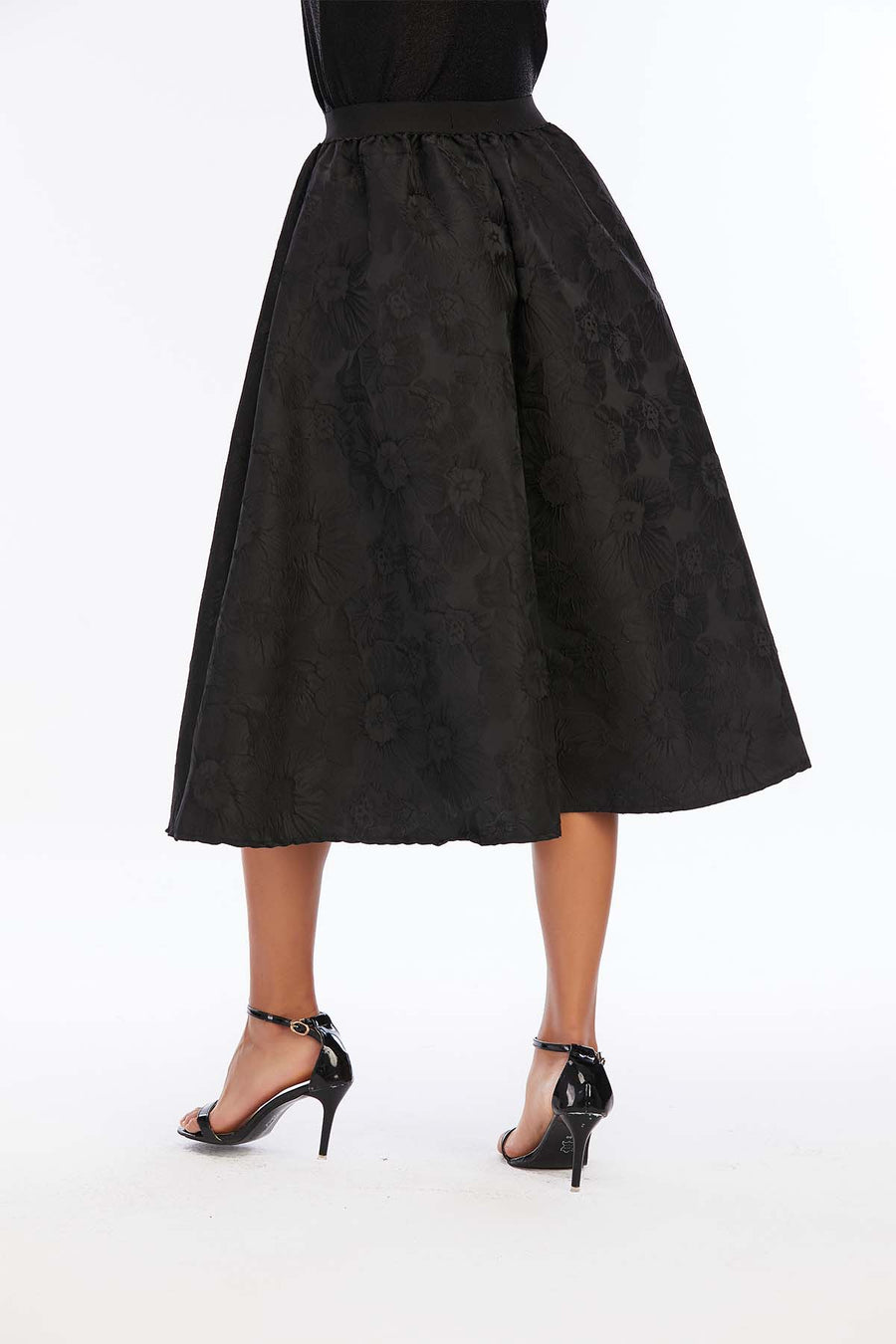 Mantra Pakistan Black Floral Skirt | Western Wear