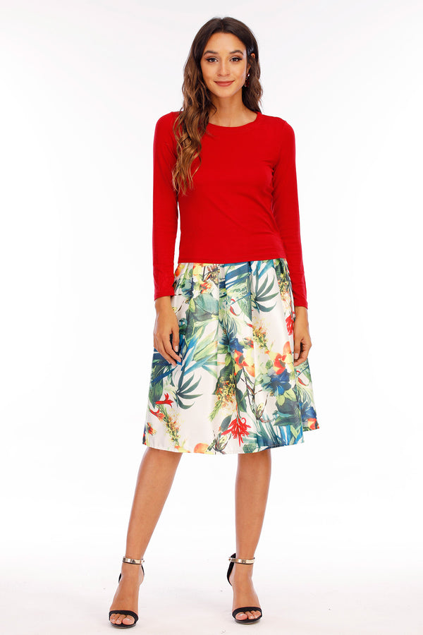 Mantra Pakistan TROPICAL PRINT SKIRT | Western Wear