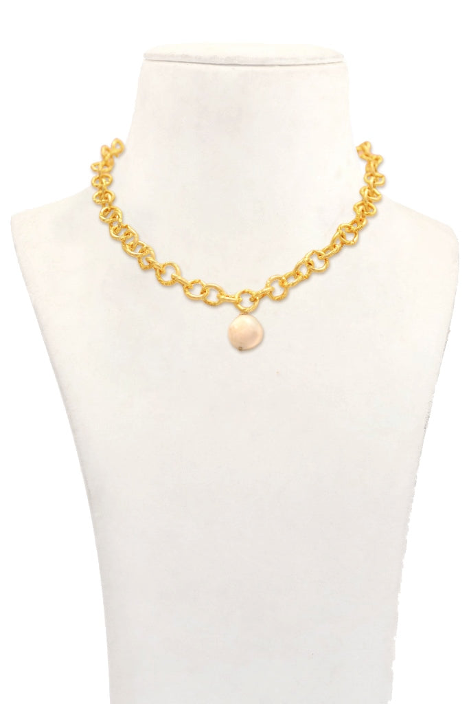 Lina Round Link Chain Necklace