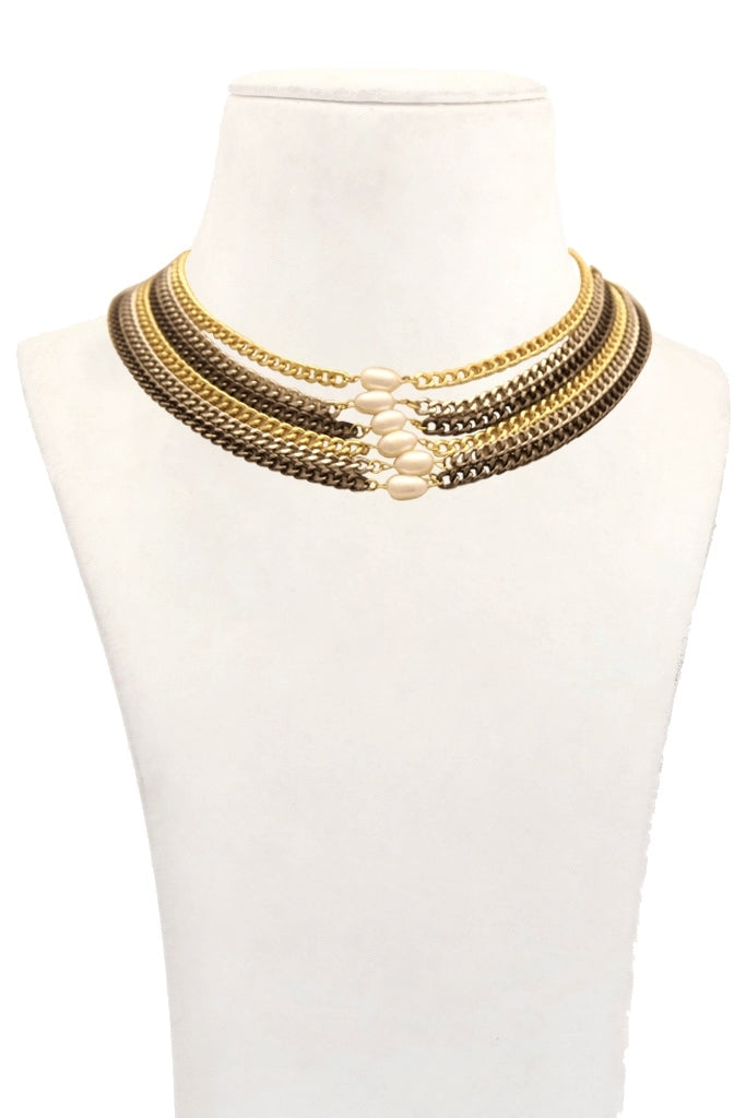 Nico Mix Metal Layered Choker