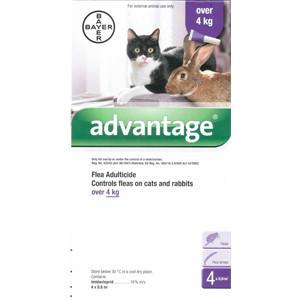 Advantage Purple For Cats Over 8.8lbs (4kg)