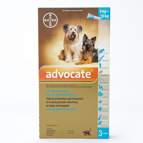 Advocate (Advantage Multi) flea and heartworm Spot-on For Medium Dogs 8.8-22 lbs (4-10 kg)