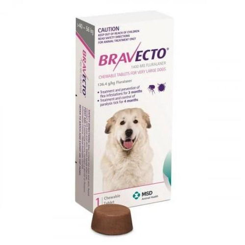 Bravecto Chews For Extra Large Dogs 88-123lbs (40-56kg)