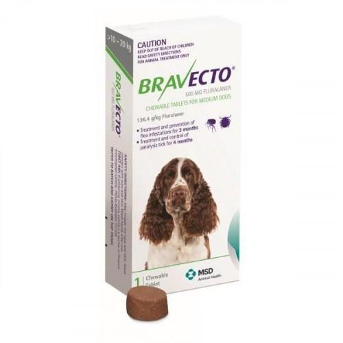 Bravecto Chews For Medium Dogs 22-44lbs (10-20kg)