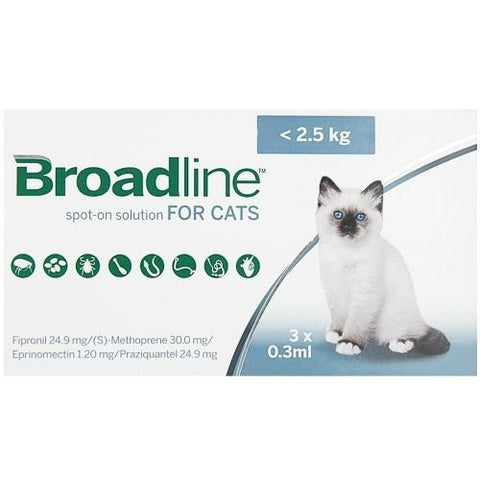 Broadline Spot-On Small Cats <2.5kg 3pk