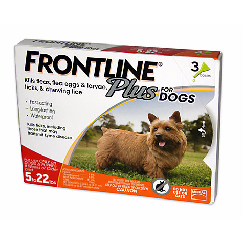 Frontline Plus Spot-on For Small Dogs 5-22lbs (2-10kg)