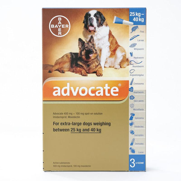Advocate (Advantage Multi) flea and heartworm Spot-on For X-Large Dogs Over 55 lbs (25 kg)
