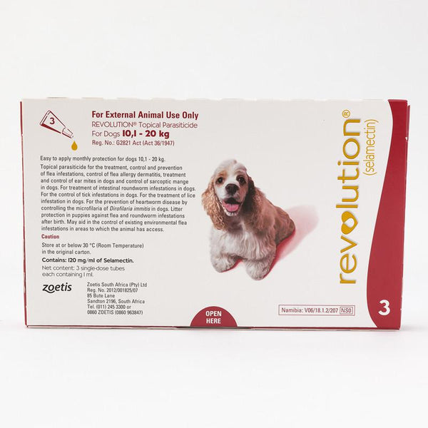 Revolution Red For Medium Dogs 20-40lbs (10.1-20kg)