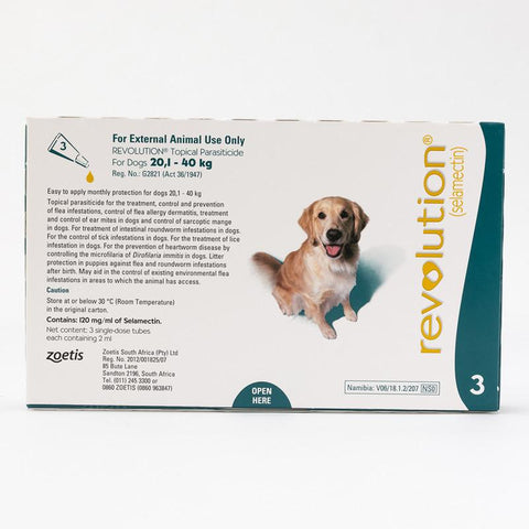 Revolution Teal for Dogs 40-85lbs (20.1-40kg)