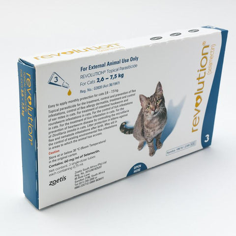 Revolution Blue For Cats 5-15lbs (2.6-7.5kg)