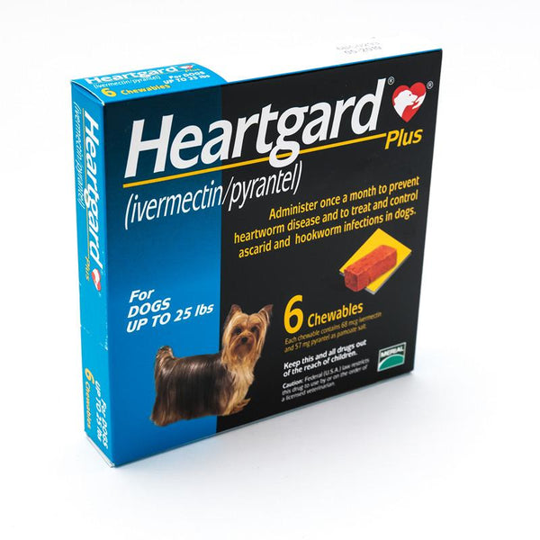 Heartgard Plus Blue Chewables for Dogs 1-25 lbs (1-11kg)
