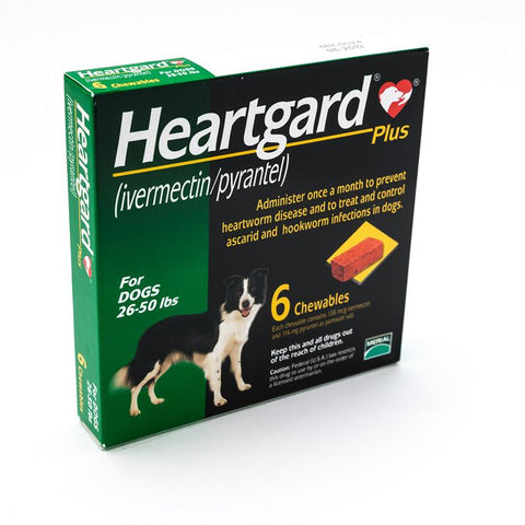Heartgard Plus Green Chewables for Dogs 26-50 lbs (12-22kg)
