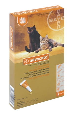Advocate (Advantage Multi) Spot-on For Cats & Kittens up to 4 kg (5-9 lbs)
