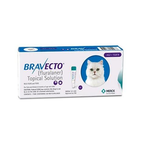 Bravecto 250mg Spot-On Solution For Medium Cats 6-14lbs (2.8-6.25kg)