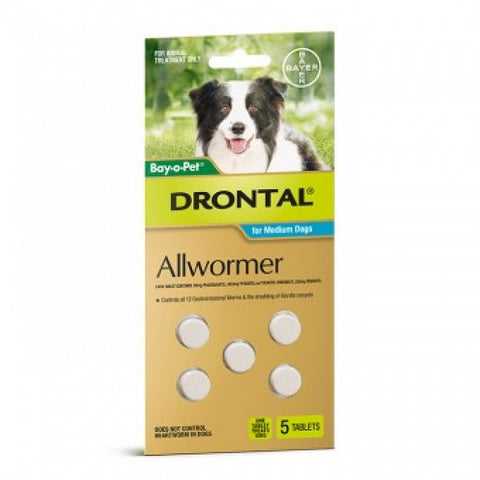 Drontal Allwormer Tablets For Medium Dogs
