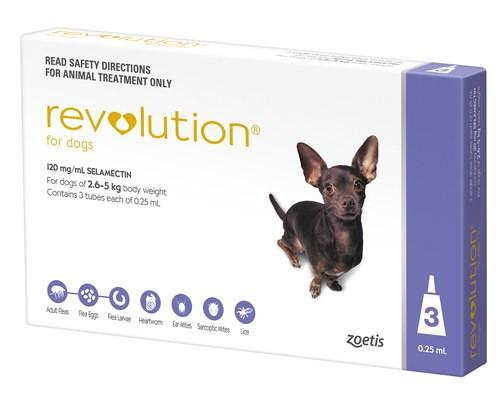 Revolution Purple For Extra Small Dogs 5-10lbs (2.6-5kg)