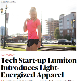 Women's Wear Daily (WWD) Features LUMITON