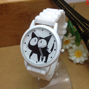 Montre chat femme silicone